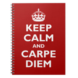 Photo Notebook (6.5' x 8.75', 80 Pages B&W) with Keep Calm and Carpe Diem design