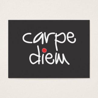 Carpe Diem on black with red polka dot gift card