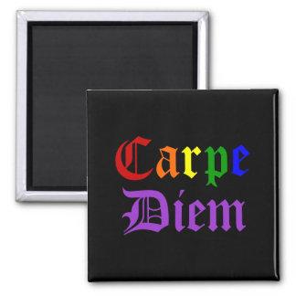 Carpe Diem - orgullo Imán Cuadrado