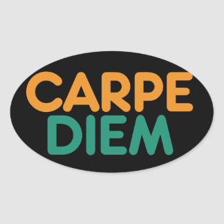 Carpe Diem Oval Stickers