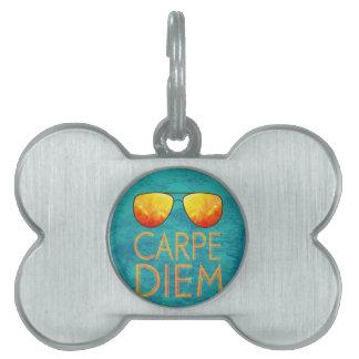 Carpe Diem Pet ID Tag