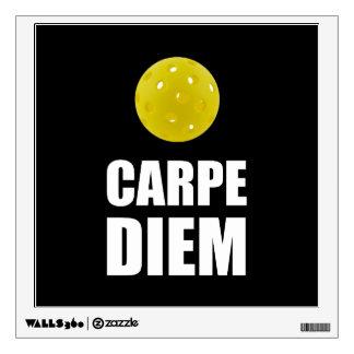 Carpe Diem Pickleball Wall Sticker
