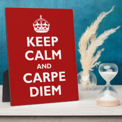 Photo Plaque 8' x 10' with Easel with Keep Calm and Carpe Diem design