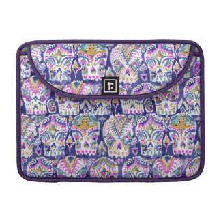 Carpe Diem Purple Bohemian Sugar Skulls Sleeve For MacBook Pro