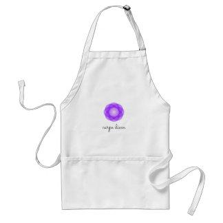 Carpe Diem purple flower Adult Apron