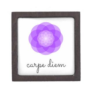 Carpe Diem purple flower Gift Box