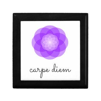 Carpe Diem purple flower Jewelry Box