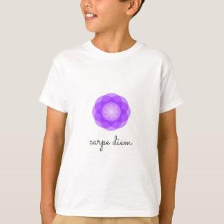 Carpe Diem purple flower T-Shirt