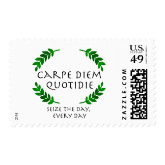 Carpe Diem Quotidie - Seize the day, every day Postage