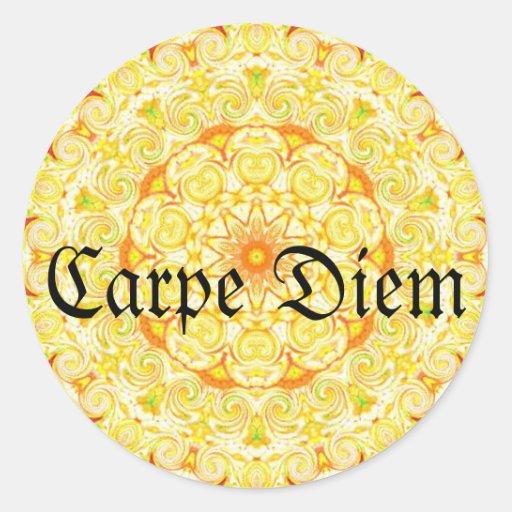 Carpe Diem Round Stickers