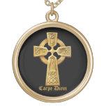 "Carpe Diem, ""Seize the day"" Celtic cross necklace"