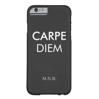 Carpe diem seize the day inspirational quote hip barely there iPhone 6 case