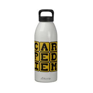 Carpe Diem, Seize The Day Latin Phrase Water Bottle