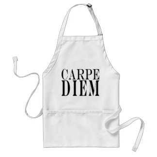 Carpe Diem Seize the Day Latin Quote Happiness Adult Apron