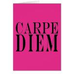 Carpe Diem Seize the Day Latin Quote Happiness Cards
