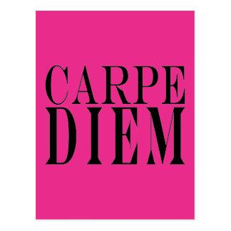 Carpe Diem Seize the Day Latin Quote Happiness Postcard