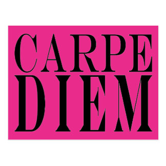 Carpe Diem Seize the Day Latin Quote Happiness Postcard