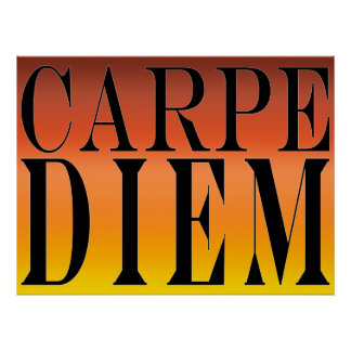 Carpe Diem Seize the Day Latin Quote Happiness Poster