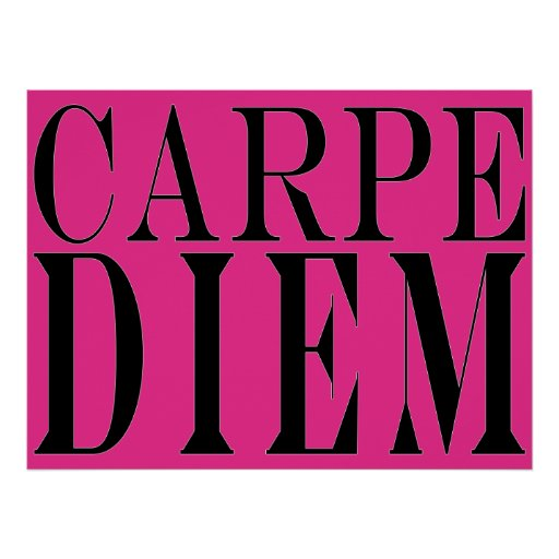 Carpe Diem Seize the Day Latin Quote Happiness Posters