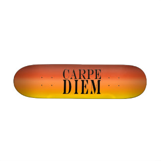 Carpe Diem Seize the Day Latin Quote Happiness Skate Deck