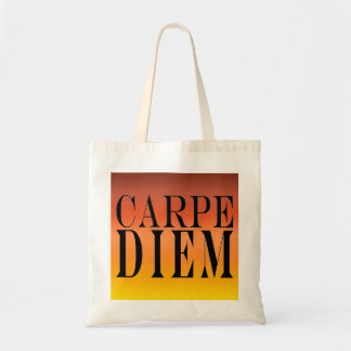 Carpe Diem Seize the Day Latin Quote Happiness Tote Bag