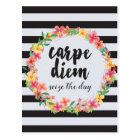 Carpe Diem / Seize The Day Quote Postcard