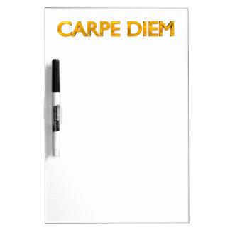 Carpe Diem, Seize The Day, Whiteboard Notes Gold