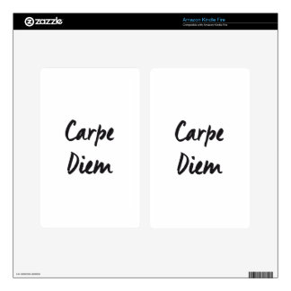 Carpe diem decals for kindle fire