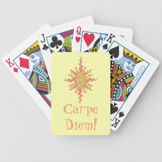 Carpe Diem Sunburst Playing Cards