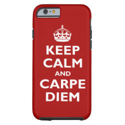 Case-Mate Barely There iPhone 6 Case with Keep Calm and Carpe Diem design