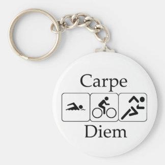 Carpe Diem Triathilon Key Chain