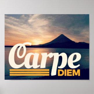 Carpe Diem Volcano Travelers Poster