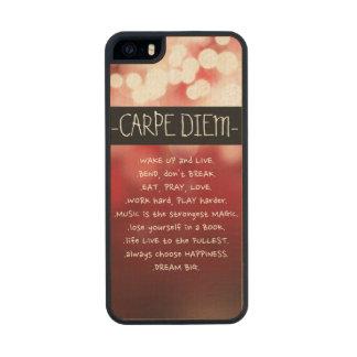 Carpe Diem Wood Case Carved® Maple iPhone 5 Slim Case