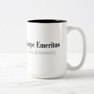 Carpe Emeritus (Seize Retirement) Gifts Two-Tone Coffee Mug