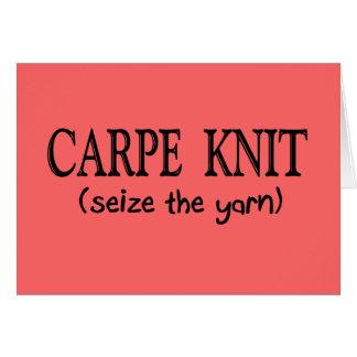Carpe Knit   (Seize the Yarn) Knitter Gifts Card