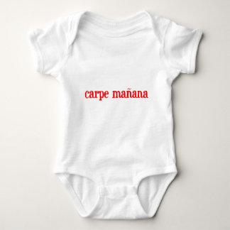 Carpe manana! baby bodysuit