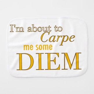Carpe Me Some Diem Burp Cloth