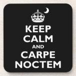 Carpe Noctem! Beverage Coasters