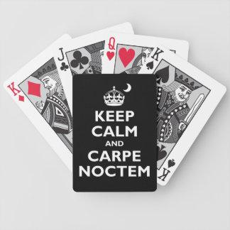 Carpe Noctem Bicycle Playing Cards