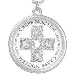Carpe Noctem Celtic cross Necklaces
