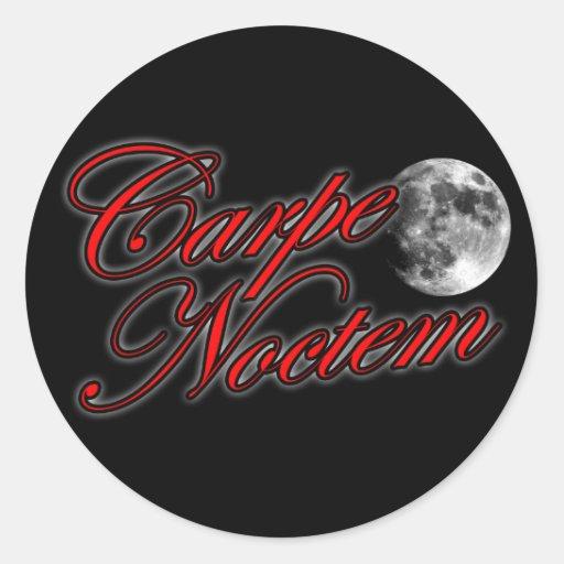 Carpe Noctem sieze the night Sexy Goth girl an guy Classic Round Sticker
