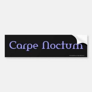 Carpe Noctum (blue) Bumper Sticker Car Bumper Sticker