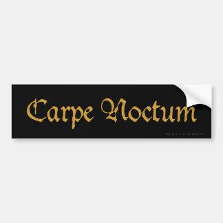 Carpe Noctum (sepia) Bumper Sticker