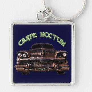 Carpe Noctum Silver-Colored Square Keychain