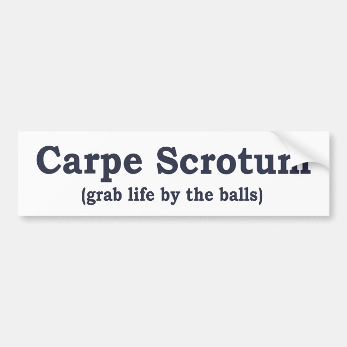 Carpe Scrotum Bumper Sticker