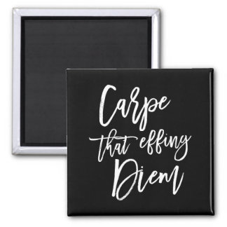 Carpe That Effing Diem Hand Lettered Quote Magnet