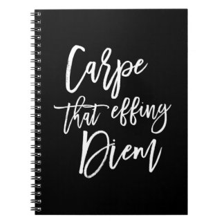 Carpe That Effing Diem Hand Lettered Quote Notebook