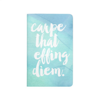 Carpe That Effing Diem Quote | Aqua Watercolor Journal