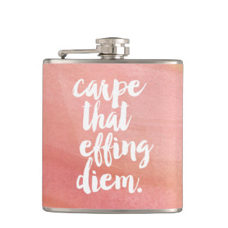 Carpe That Effing Diem Quote Flask