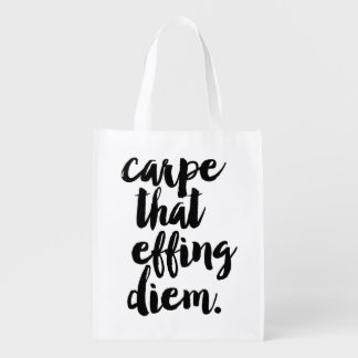 Carpe That Effing Diem Reusable Grocery Bag